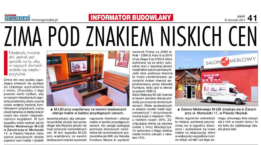 Gazeta Regionalna 20.01.2012