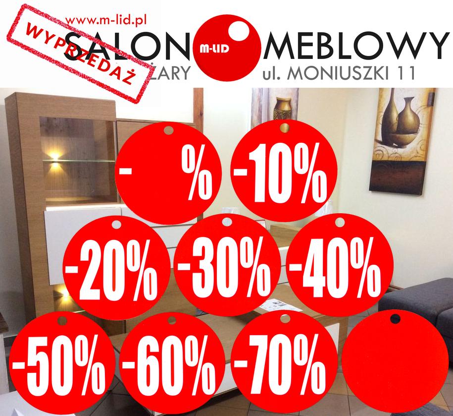 WIELKA WYPRZEDAŻ EKSPOZYCJI - SALON MEBLOWY M-LID - ŻARY, ul. MONIUSZKI 11