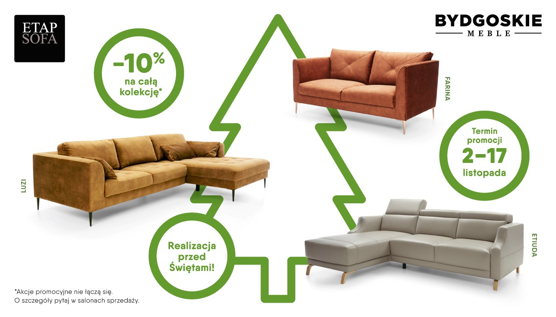 Witamy na stronie SALON MEBLOWY M-LID i przedstawiamy promocję na meble IMS Sofa - marki Bydgoskie Meble i ETAP SOFA