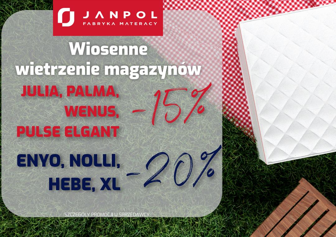 wybrane MATERACE FIRMY JANPOL DO 20% TANIEJ