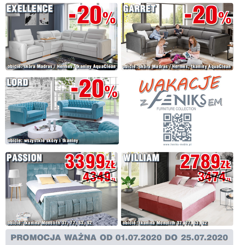 Feniks Meble - wybrane modele do -20%