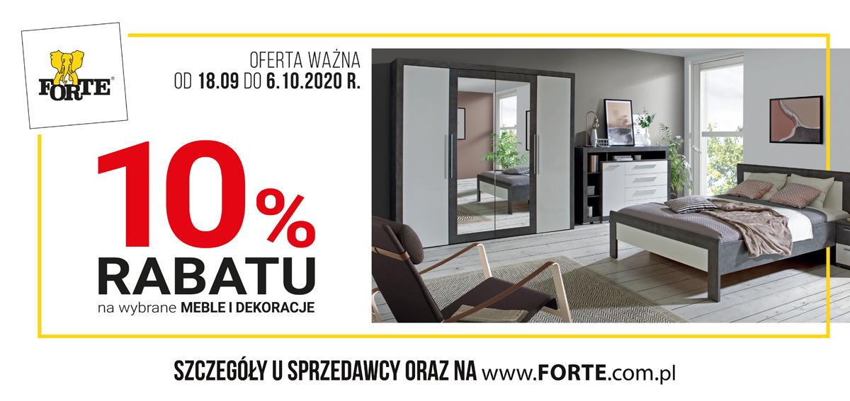 FORTE - promocja - -10% na wybrane meble i dekoracje