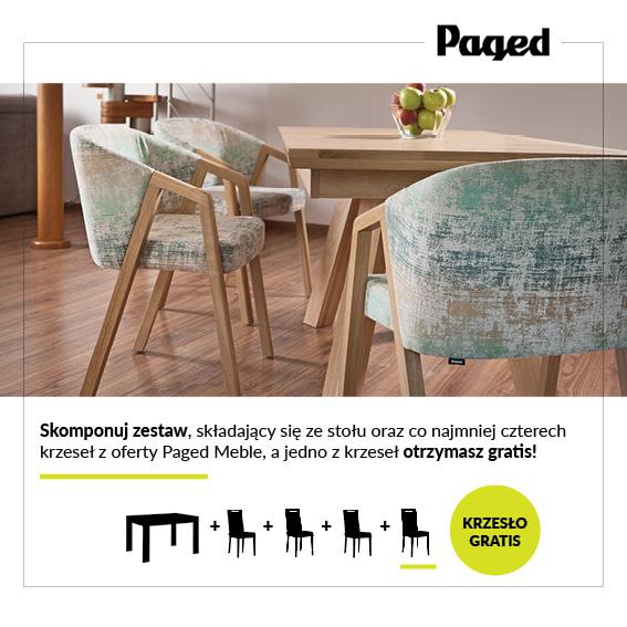 Paged Meble - kup stół i minimul 4 krzesła, jedno dostaniesz GRATIS