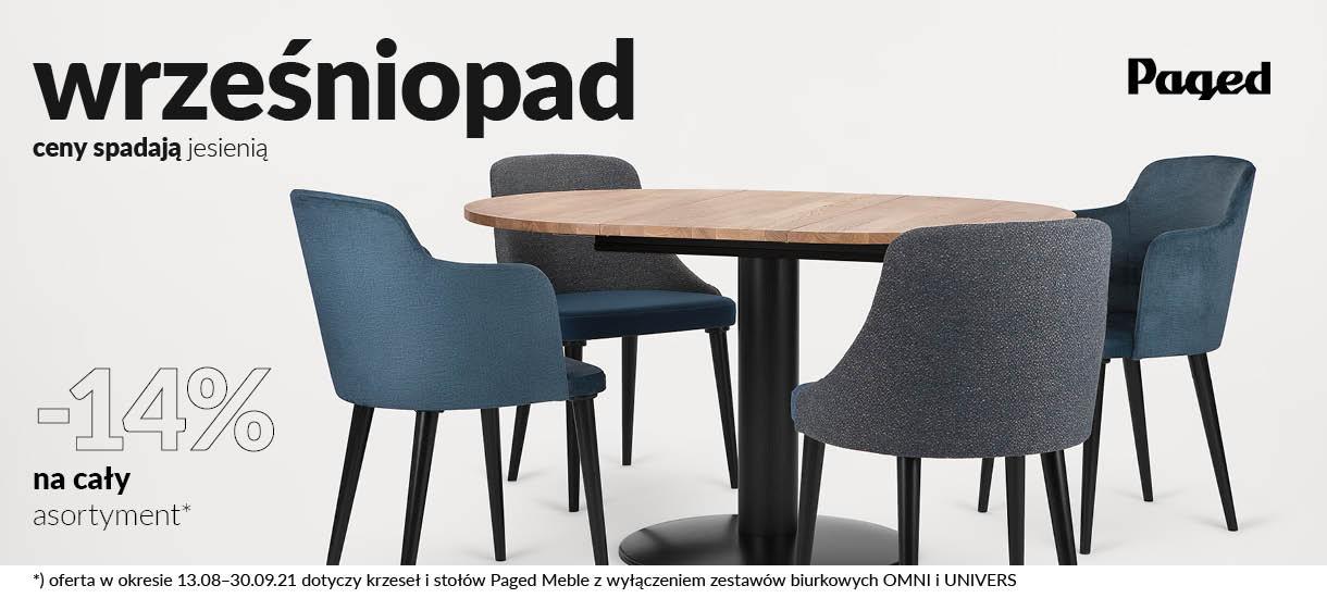 wrześniopad -14% rabatu - promocja na stoły i krzesła Paged