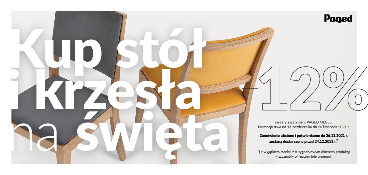 PROMOCJA Paged - stół i krzesła na Święta - rabat -12%